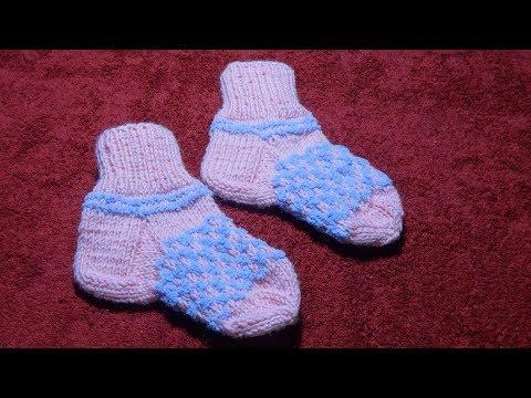 Вязание носков детских на один год