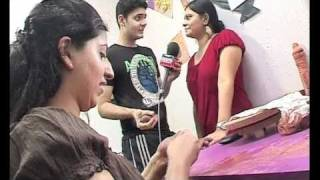 Paras tomar learning pottery from Neha Ramaiya for Blah