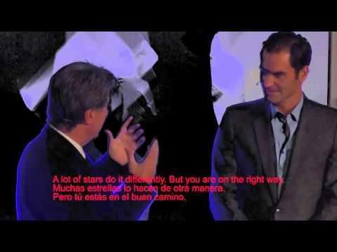 Roger Federer spricht über seine Zwillinge / speaks about his twins / habla sobre sus gemelos