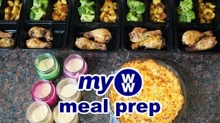 MyWW Meal Prep | Hash Brown Quiche, Chicken Drumsticks, Parmesan Roasted Potatoes, Caramel Buttersco