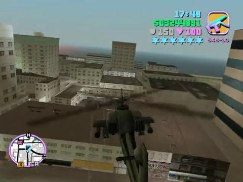 GTA Vice City - Helicoptero Hunter en acción