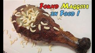 SICKENING ! FOUND MAGGOTS IN DAILY FOOD