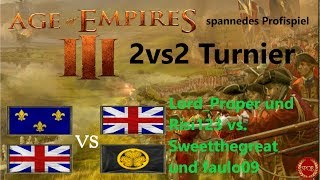 Age of Empires 3 // Team Lord Proper vs. Team Sweethegreat // Gruppenphase // 2vs2 Turnier [HD]