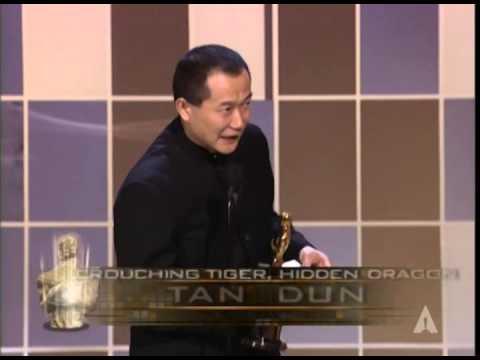 "Tan Dun Winning Original Score For ""Crouching Tiger, Hidden Dragon"""