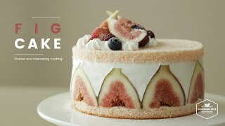 무화과 생크림 케이크 만들기 : Fig Cake Recipe - Cooking tree 쿠킹트리*Cooking ASMR