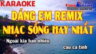 Karaoke | Dáng Em Remix | Fulll Beat | Beat Chuẩn | Nhạc Sống Công Trình | Trường Giang KeyBoard