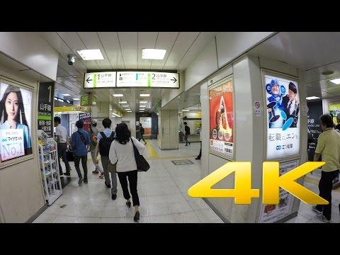 Walking around Shibuya underground station - 渋谷駅 - 4K Ultra HD