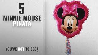 Top 10 Minnie Mouse Pinata [2018]: Minnie Mouse Pull Ribbon String Pinata