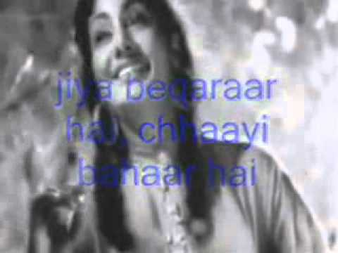 Jiya beqarar Hai-Instrumental & Lyrics-Barsaat