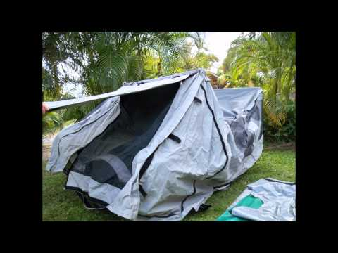 evo-pod pocket camper. set up  movie. ultimate motorcycle camper