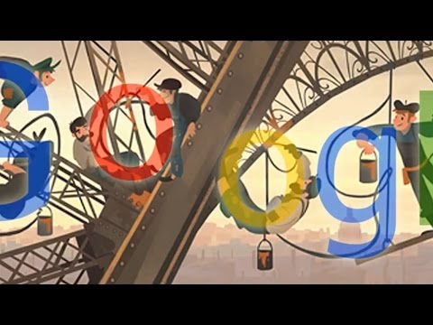 When did the eiffel tower open to the public (Google doodle)