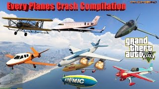 GTA V: Every Airplanes Crash and Fail Compilation (60FPS)