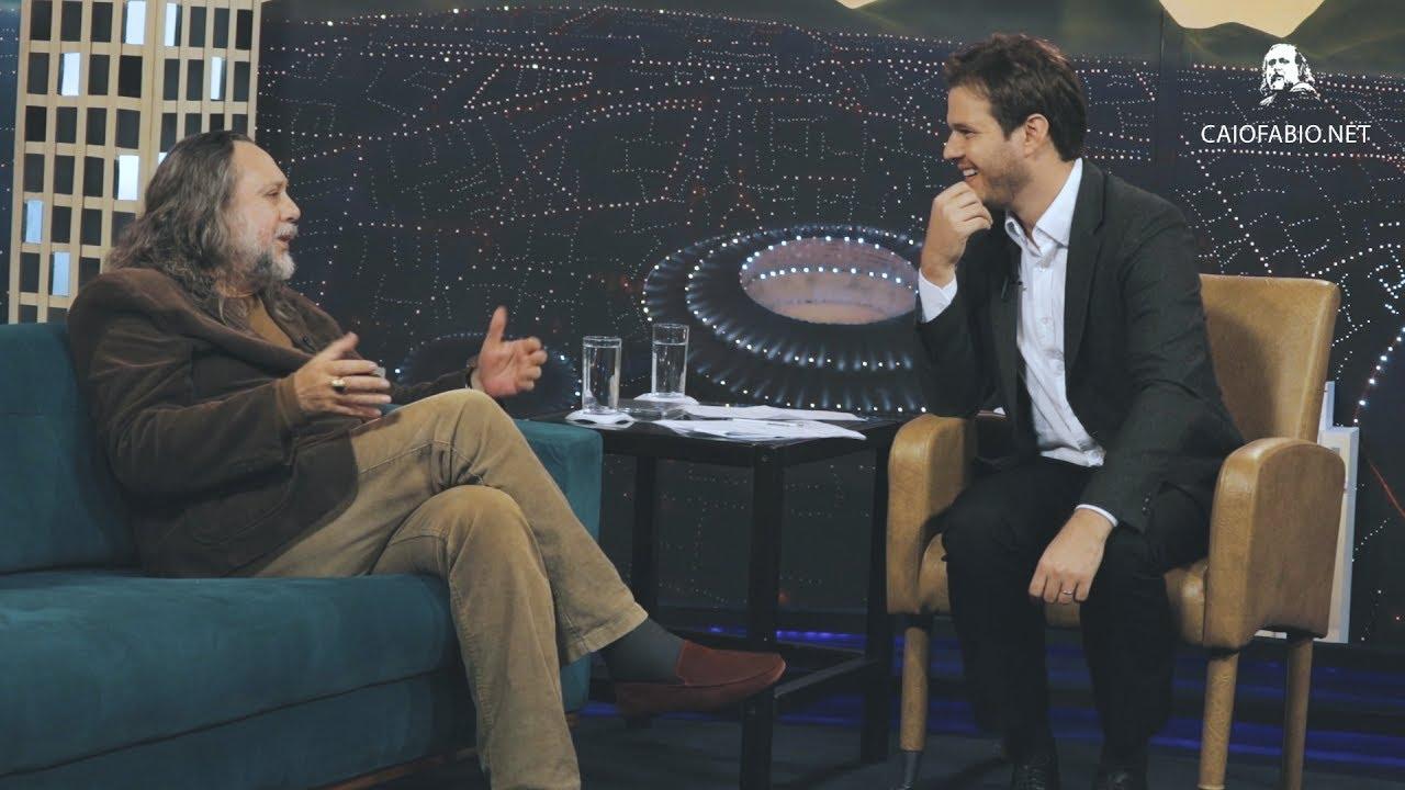 "Convite para a entrevista de Caio Fábio na TV Boas Novas. ""Cárceres Livres"". Dia 17 e 18 de agosto."