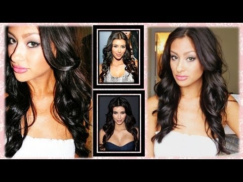 Kim Kardashian CURLS!!!! flipped out EASY EASY