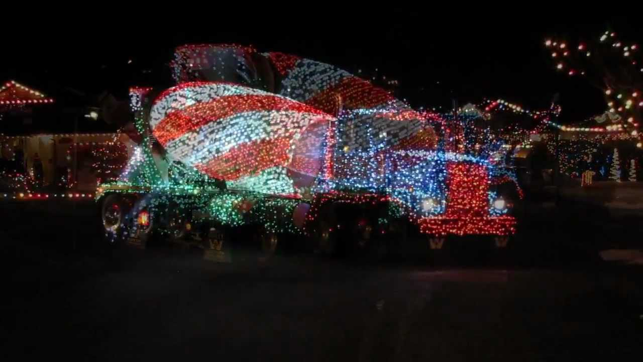 Christmas Cement Truck 2011 Lights Music Horns Youtube