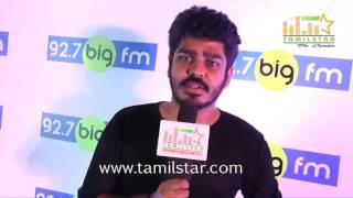 Vignesh Karthick At Big FM Launches Top 100 Kalakkal Hits
