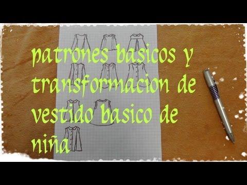 TUTORIA: PATRONES BASICOS DE VESTIDO DE NIÑA