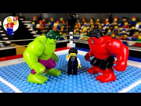 Hulk vs Red Hulk 💥 Lego Superhero 🔴 Stop Motion