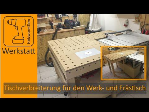 Tischverbreiterung für den Werk- und Frästisch / Multifunction workbench router table extension