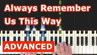 Always Remember Us This Way - Lady Gaga - Piano Tutorial Easy - (A Star is Born) Sheet Music