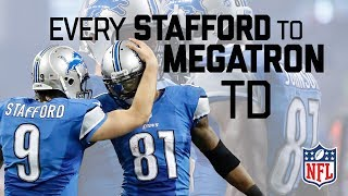 Every Matt Stafford to Calvin Johnson Regular Season TD! | #CountdownToKickoff | NFL Highlights