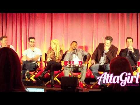 Adam Levine, Usher, Shakira & Blake talk