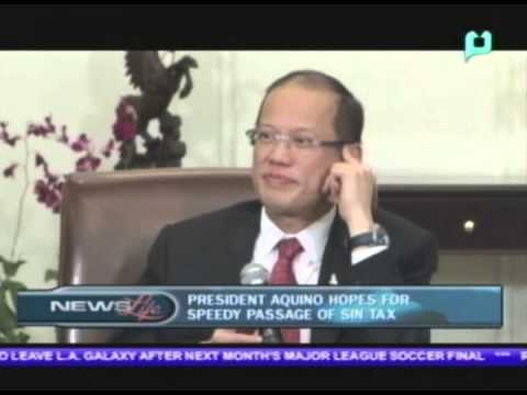 President Aquino hopes for speedy passage of Sin Tax