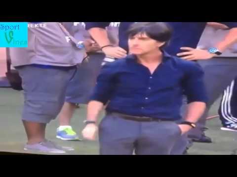 Joachim Löw picks nose and shakes hand Ronaldo! Germany Vs Portugal #WorldCup