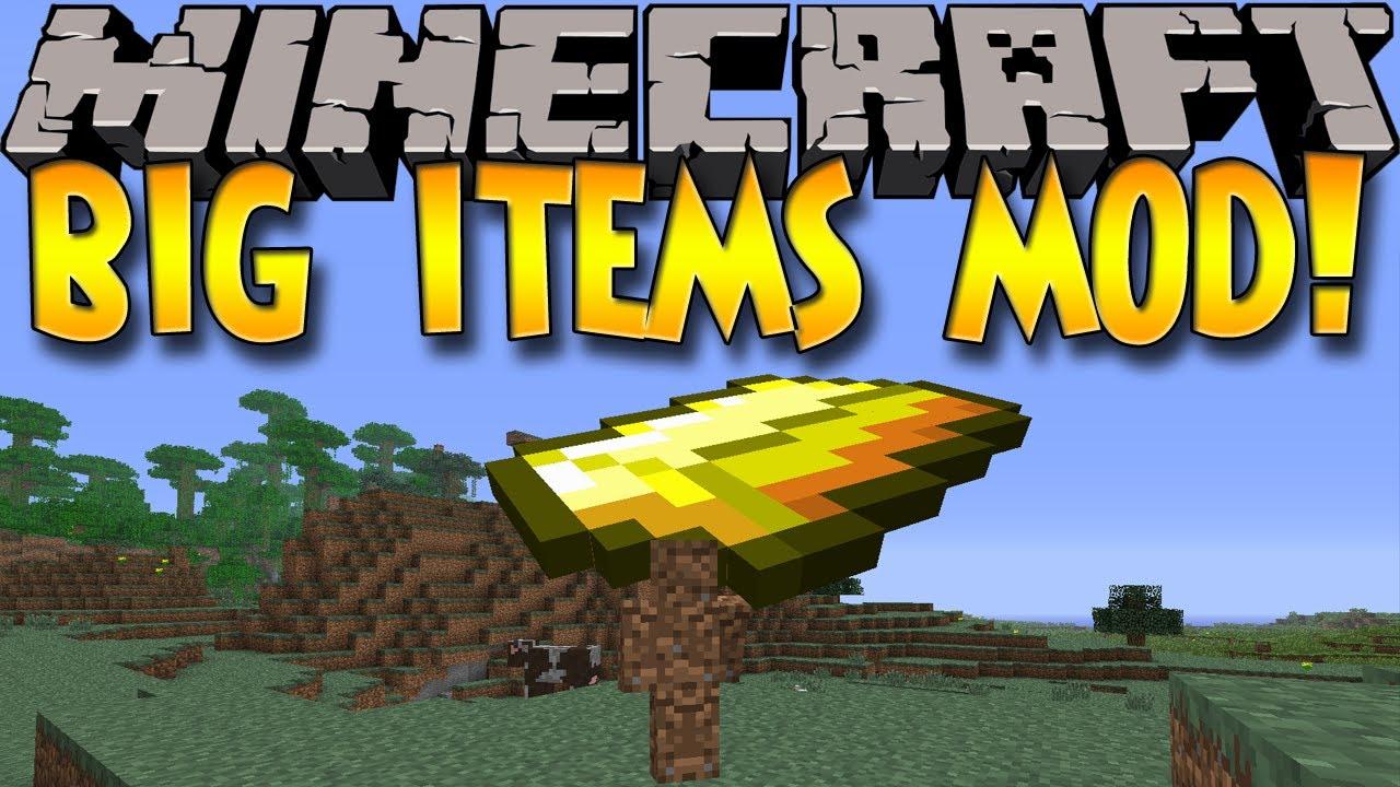 Minecraft Giant Mod Minecraft Mods Big Items Mod