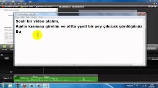 CamTasia 8 Videodaki Sesi Alçaltma ve Yükseltme - CreativeDirector