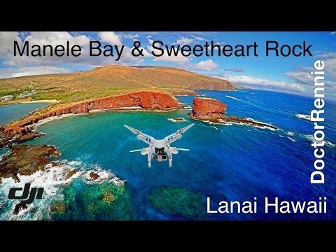 Manele Bay & Sweetheart Rock, Lanai Hawaii Drone Travel Video