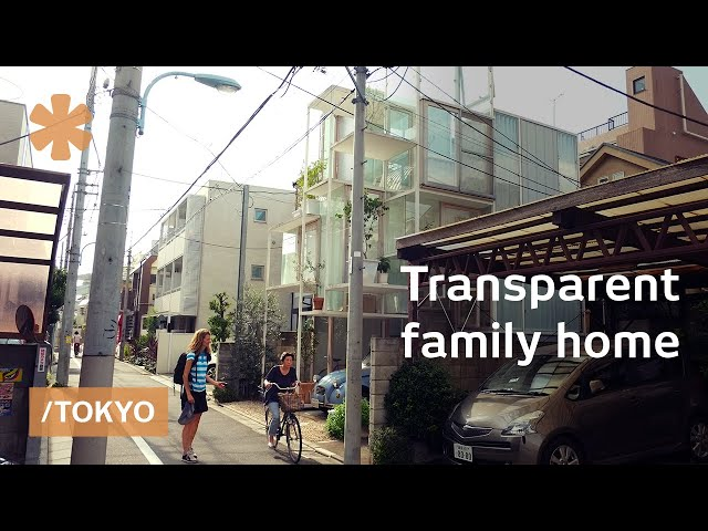 Sneak peek at a skinny, multilevel & transparent Tokyo house