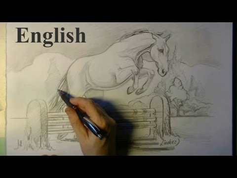How To Draw A Jumping Horse Youtube