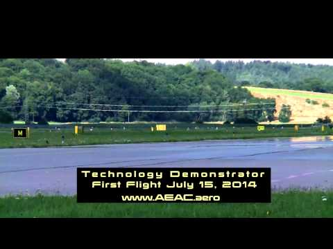 AEAC E1 - electric aircraft - first flight