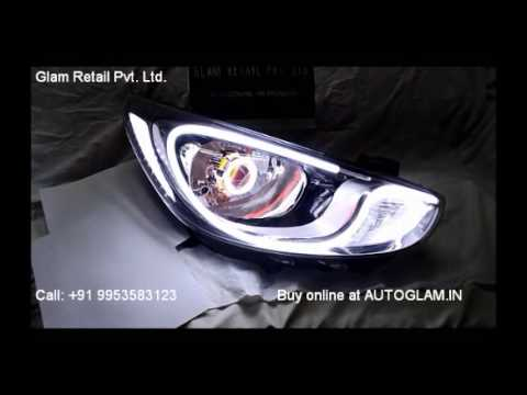 AG601 Verna Fluidic Audi Style Headlamp by AUTOGLAM.IN, Car Accessories & Bike Accessories, INDIA