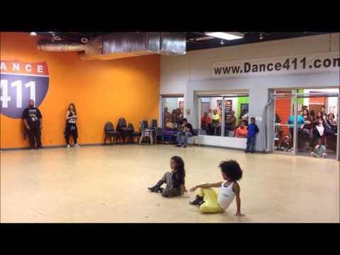 Kaelynn KayKay Harris Class Feat. Charlize Glass and Alexus Bgirl Lex Armijo at Dance 411