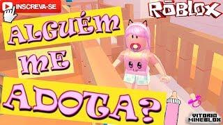 ROBLOX - A PROCURA DE UMA MÃE /TENTE NÃO RIR! / (Adopte Me)Vitória MineBlox