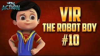 Vir: The Robot Boy | Hindi Cartoon Compilation For Kids | Compilation 10 | WowKidz Action