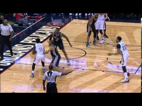 Anthony Davis' Huge Dunk | San Antonio Spurs @ New Orleans Pelicans | 20-11-2015