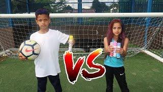 FOOTBALL CHALLENGE | 3 COLOR HAIR DYE CHALLENGE | TASH BALLER VS MY SISTER!!