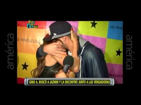Esto es Guerra: Gino Assereto sorprende a Jazmín en evento de 'Las Vengadoras' - 11/07/2013
