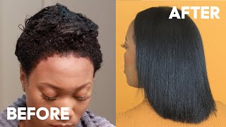HOW TO DYE / RINSE NATURAL HAIR BLACK