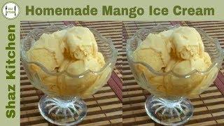 Shaz kitchen viyoutube mango homemade ice cream recipein urduhindihow to make mango ice ccuart Images