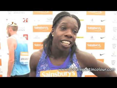 Anyika Onuora Post Diamond League interview - Birmingham 2015