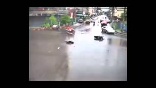Accident At Intersection in Thailand and no one helps