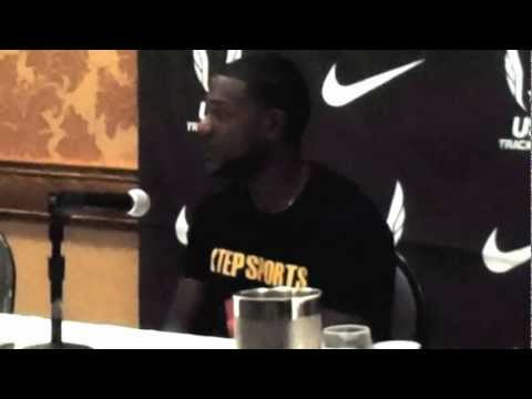 2012 Olympic Track & Field Trials: Justin Gatlin Press Conference
