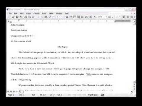how to write mla research paper example