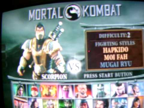mortal kombat deception scorpion fatalities and rayden hara-kiri