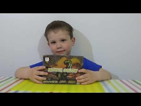 Раскопки динозавра набор ищем динозавра игрушка распаковка