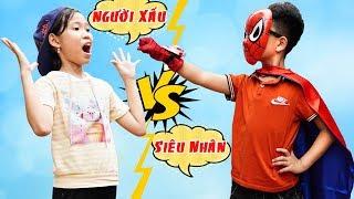 Siêu Nhân Đối Đầu Người Xấu - Dạy Trẻ Cảnh Giác Với Người Lạ ♥ Min Min TV Minh Khoa